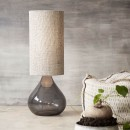 Big dark grey table lamp