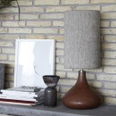 Danish contemporary ceramic lamp burnt henna
