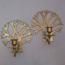 Vintage french brass candle holders